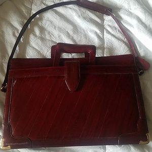 Vintage Genuine Eel skin briefcase